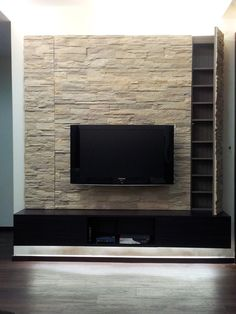 Steine, Wohnzimmer, Steinplatten, Medienmöbel, Tv Wände, Wohnzimmer  Inspiration, Erdfarbe,