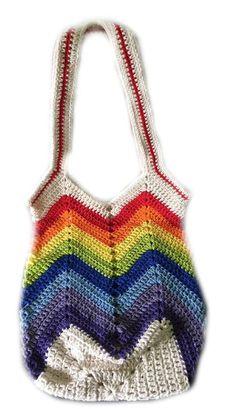 8d4e667da Crochet el bolso de la playa, arco iris, bolso del algodón, bolso del  mercado, totalizador del mercado, monedero de ganchillo, crochet bolsa de  ...