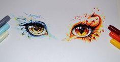 Just Pinned to Eyes: Angel or Devil - your turn! by Lighane on DeviantArt http://ift.tt/2rgCdPo