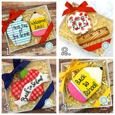 back to school sugar cookies, first day of school cookies, apple, pencil, ruler, notebook paper, royal icing, cookie favors