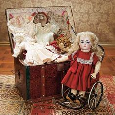 Diverse Dolls with Dignity: Little Gautier with Super Rare Dolls Wheelchair collectdolls.about.com.  Photo by Theriault's.