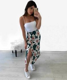 Stylish Summer Outfits, Cute Casual Outfits, Simple Outfits, Stylish Outfits, Casual Summer, Tumblr Outfits, Mode Outfits, Teen Fashion Outfits, Girl Outfits