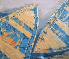 Dwie stare łodzie