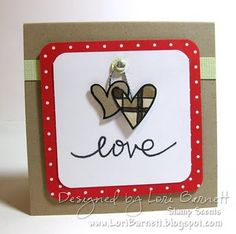 Using Paper Smooches Falling For You Stamp Set