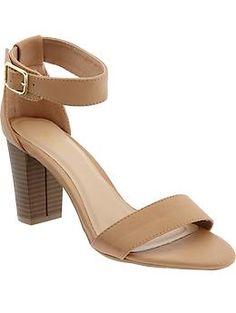 Women's Block-Heel Sandals   Old Navy