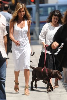 Jennifer Aniston: White-out Woman!: Photo Jennifer Aniston wears an all-white dress on the set of her new film, The Bounty, in Lower Manhattan on Tuesday (August The takes the cover of… Jennifer Aniston Style, Jennifer Aniston Pictures, Jeniffer Aniston, Portrait, Her Style, Ikon, Persona, Celebrity Style, People