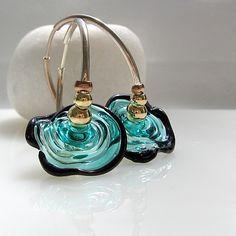 Lampwork Focal Bead-Single Glass Focal Bead for lampwork jewelry.. Design by Nadin Gershon