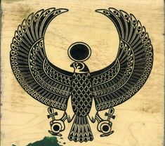 Egyptian Hawk Rubber Stamp por rsdestash en Etsy, $4.00