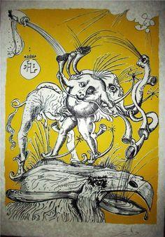 """Salvador Dali. """"Les songes drolatiques de Pantagruel"""" (1973) 206/250 - Subasta Real"""
