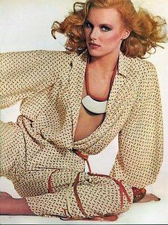 Patti Hanse in Beene for Vogue, Photo by Irving Penn 1977