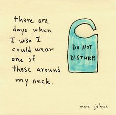 There are days when I wish I could wear one of these around my neck. / by marc johns