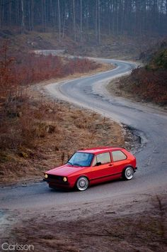 Red #Mk1 #GTI Rabbit. Oh yes i will have one