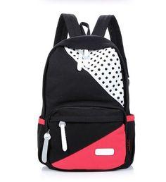 usd34.99/Cute cartoon POINT canvas backpack bag