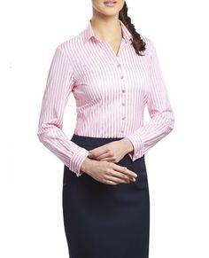 TM Lewin - Amber Pink Bold Stripe Shirt