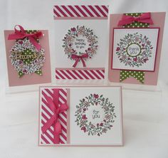 Morning Everyone,      A couple of weeks ago we used the Circle of Spring Stamp set for Class. Such a lovely stamp set for some...