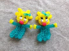 Rainbow Loom MAGGIE SIMPSON (Baby). Designed and loomed by Looming WithCheryl. Click photo for YouTube tutorial. 05/24/14.