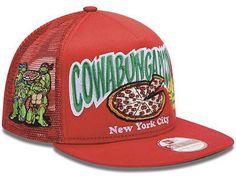 hats off · NEW ERA TEENAGE MUTANT NINJA TURTLES TMNT COWABUNGA PIZZA  TRUCKER SNAPBACK M-L  NewEra  Trucker 6dab4e92b5fb