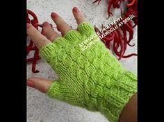 5 parmaklı yarım parmak eldiven yapılışı - YouTube