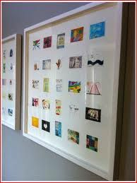 Shrink artwork and then display it all in one frame!  Great idea for a child's therapy or art therapy to show progression! - pinned by Private Practice from the Inside Out http://www.AllThingsPrivtePractice.com