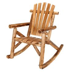 Add a rustic feel to your yard with a log rocking chair!