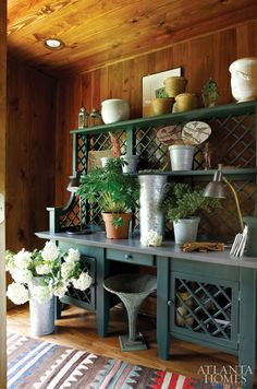 Now this is a potting shed! Needs a sink though.  a life's design: kitchens