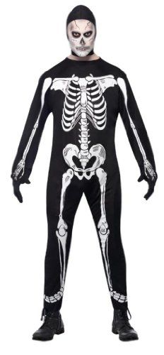 Smiffys Skeleton Mens Halloween Fancy Dress Costume/Outfit « Clothing Impulse