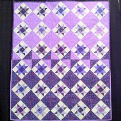 Purple Project Linus quilt Star Quilts, Quilt Blocks, Lilac, Lavender, Purple Quilts, Pinwheel Quilt, Shades Of Purple, Pinwheels, Hand Stitching