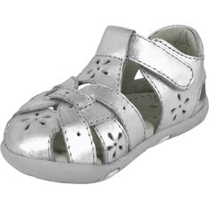 Grip n Go Nikki - Silver | pediped footwear | comfortable shoes for kids | infant baby toddler youth shoes