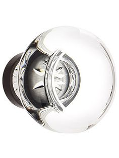 Medium Georgetown Crystal Cabinet Knob With Solid Brass Base | House of Antique Hardware Option 1