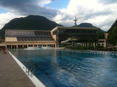 Ottimo allenamento all'aperto a Bolzano!!! Piscina spettacolare e finalmente acqua calda!!!!! La strada per Trieste per una volta è sembrata in discesa!!!! #roadtoTrieste13