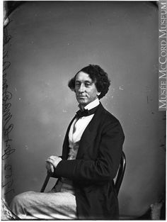 """Sir John A. Macdonald, Canada's first prime minister, was among Notman's high-profile clients. William Notman, """"John A. Macdonald, Politician,"""" Montreal, 1863, McCord Museum. Edwardian Era, Victorian, First Prime Minister, Edward Curtis, Montreal Qc, Canada, Important People, A Decade, 1920s"""