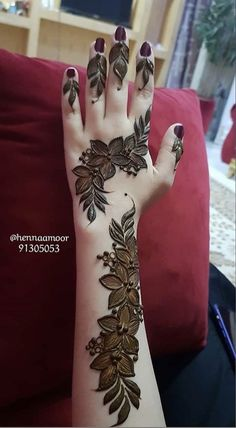 Henna Hand Designs, Simple Mehndi Designs Fingers, Henna Tattoo Designs Simple, Rose Mehndi Designs, Basic Mehndi Designs, Mehndi Designs For Beginners, Mehndi Designs For Girls, New Bridal Mehndi Designs, Latest Mehndi Designs