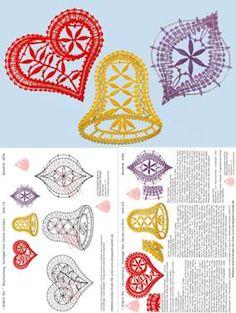 Irish Crochet, Crochet Motif, Crochet Patterns, Bobbin Lacemaking, Bobbin Lace Patterns, Point Lace, Theme Noel, Lace Jewelry, Easter Crochet