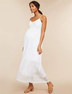 f7646b41c4c7d Motherhood Maternity Lace Trim Maternity Dress. Pregnancy Photos ...