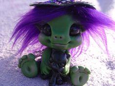 polymer clay witch