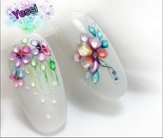 Image may contain: shoes 3d Acrylic Nails, 3d Nails, Gel Nail Art, Flower Nail Designs, Nail Art Designs, Spring Nails, Summer Nails, Nail Art Fleur, Manicure