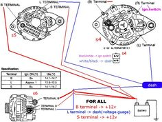1998 Ford Ranger Alternator Wiring Diagram Auto Pinterest Cars. Alternator Wiring Help Rx7club. Ford. Ford Dual Alternator Wiring At Scoala.co