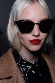 Max Mara Backstage Glasses   Sasha Luss