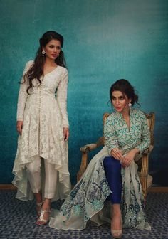 Nida Azwer balances the traditionalist side of her signature label brilliantly with modern universal aesthetics in her latest Eid campaign and it compliments the season perfectly! Her iconic angark…