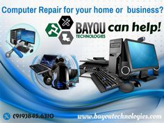 Bayou Technologies is dedicated to helping our customers become familiar with the machines they use on a daily basis.Come Here and get your new computer running right from day one.Call Now - (337)214-1172 or Visit our website.