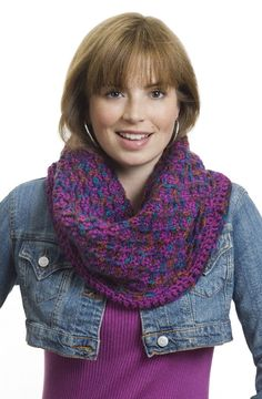 Caron | Free Pattern Simply Soft Paints | Criss Cross Cowl