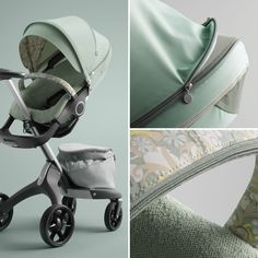 The new Stokke Stroller Summer Kit features flowers and animals on the interior that are sure to catch your baby's eye Choose from Flora Green, Flora Pink and Flora Blue