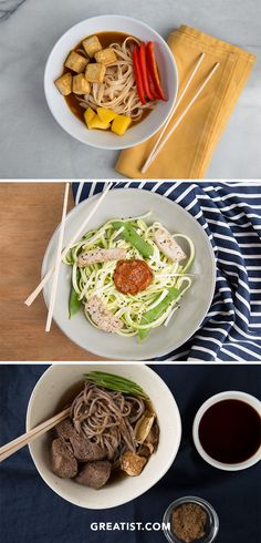 Use this handy chart to put together a noodle bowl better than anything from a package or even a food truck! #ramen #recipe https://greatist.com/eat/how-to-make-healthy-ramen-bowl