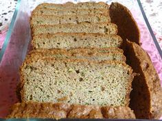 FABULOUS ZUCCHINI BREAD - this is not the whole loaf!  I could not help sneaking a few slices before taking  photos! ;)