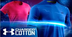 Men's UA Charged Cotton Shortsleeve T-shirt   We supercharged the Earth's most comfortable fabric with signature UA innovation.