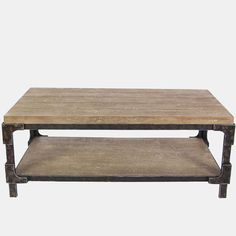 2 Tier Wood Coffee Table | Antique Farmhouse