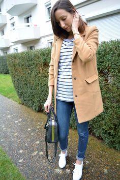 Manteau camel vero moda