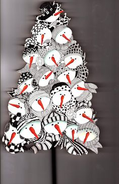 GoldaRader,CZT: Nineteen Snowmen Tree                                                                                                                                                                                 More
