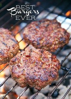 Best Burgers EVER - these are hands down the best burgers I ve ever eaten SO good Hamburger onion basil teriyaki sauce bread crumbs parmesan cheese We like to double the recipe and freeze uncooked hamburgers for a quick meal later Great for tailgating The Best Burger, Best Burger Recipe, Good Burger, Recipe For Burgers, Simple Burger Recipe, Burger Perfect, Grilled Hamburger Recipes, Hamburger Patties Recipe, Snacks
