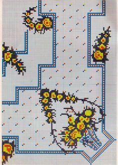 Seed Bead Flowers, Beaded Flowers, Cross Stitch Borders, Cross Stitch Flowers, Beaded Embroidery, Cross Stitch Embroidery, Vintage Cross Stitches, Housewarming Party, Christmas Cross